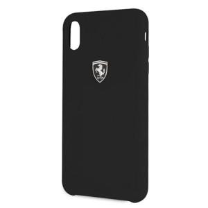 Оригинален твърд гръб Ferrari Silicone Off trackFEOSIHCI65BK iPhone XS Max черен
