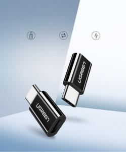 Преходник Ugren micro USB / Type-C бял (30154)