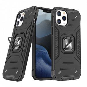 Релефен гръб Wozinsky Ring Armor със стойка - iPhone 13 Pro черен