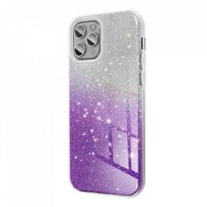 Силиконов гръб FORCELL Shining - Samsung Galaxy A12 прозрачен-лилав