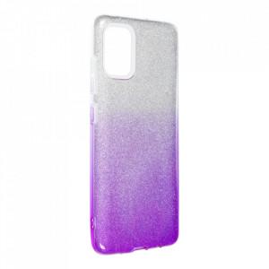 Силиконов гръб FORCELL Shining - Samsung Galaxy A52 5G / A52 LTE ( 4G ) сребрист / лилав