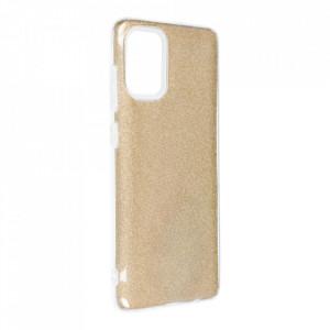 Силиконов гръб FORCELL Shining - Samsung Galaxy A72/A72 5G златист