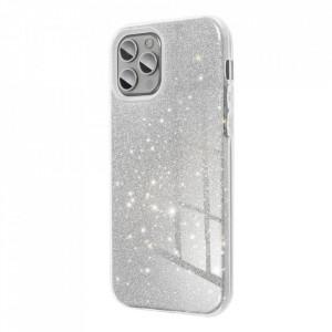 Силиконов гръб FORCELL Shining - Samsung Galaxy S21 сребрист