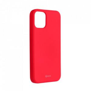 Силиконов гръб ROAR Colorful Jelly - iPhone 12 Mini ярко розов