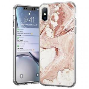 Силиконов гръб WOZINSKY Marble - Samsung Galaxy A42 5G розов