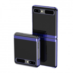 Ултратънък гръб с кант Electro - Samsung Galaxy Z Flip син