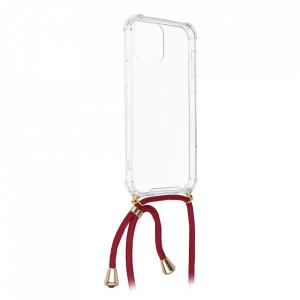 Гръб с връзка FORCELL Cord - Samsung Galaxy A22 червен