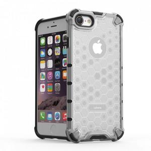 Гръб Honeycomb Armor със силиконов бъмпер - iPhone 7 / 8 прозрачен