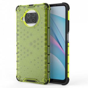 Гръб Honeycomb Armor със силиконов бъмпер - Xiaomi Mi 10T Lite 5G зелен