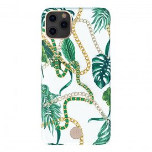 Гръб Kingxbar Luxury Series с оригинални кристали Swarovski - iPhone 11 Pro Max зелен