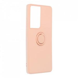 Гръб Roar Amber с държач - Samsung Galaxy S21 Ultra розов