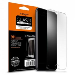 Закален стъклен протектор Spigen Align Master TR Slim с рамка за поставяне (сет от 2 бр.) - iPhone 7 Plus / 8 Plus