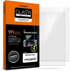 Закален стъклен протектор Spigen Glas. Tr Slim (сет от 2 бр.) - Nintendo Switch