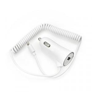 Зарядно за кола - iPhone 5/6 / 6S/7 / 8/X with data cable Plus USB socket 3A BLUE STAR бял