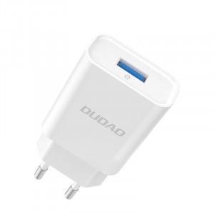 Зарядно за стена Dudao Home Travel EU Adapter USB 5V/2.4A Quick Charge 3.0 Quick Charge 3.0 бял (A3EU бял)