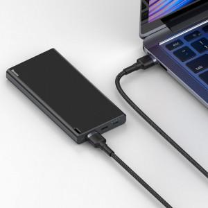 Кабел с оплетка BASEUS Cafule USB 3.0 (мъжко) / USB 3.0 (мъжко) 2A 1m сив (CADKLF-C0G)