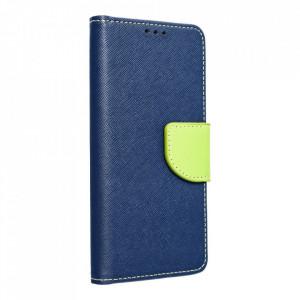 Калъф тип книга Fancy - Samsung Galaxy A22 5G тъмносин / лайм