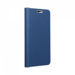 Калъф тип книга Luna Carbon - Samsung Galaxy A12 син