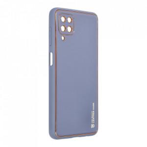 Кожен гръб Forcell LEATHER - Samsung Galaxy A12 син