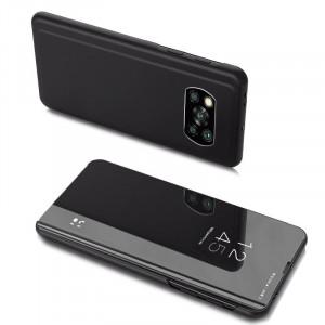 Огледален калъф тип книга Clear View - Xiaomi Poco X3 NFC черен
