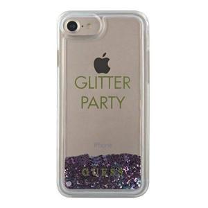 Оригинален гръб GUESS Liquid Glitter Party GUHCP7GLUQPU - iPhone 6 / 7 / 8 / SE 2020 лилав