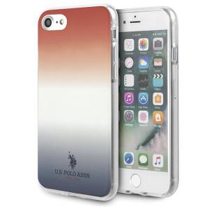 Оригинален гръб US Polo Gradient Pattern Collection USHCI8TRDGRB - iPhone 7/8/SE 2020 син-бял-червен