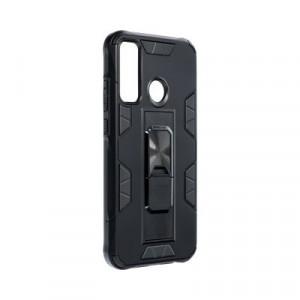 Подсилен гръб със стойка Forcell DEFENDER - Huawei P40 Lite E черен