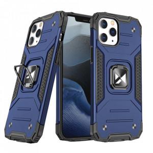 Релефен гръб Wozinsky Ring Armor със стойка - iPhone 13 mini син