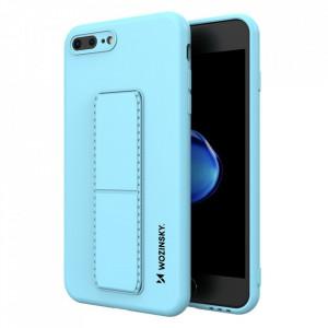 Силиконов гръб със стойка Wozinsky Kickstand - iPhone 7 Plus / iPhone 8 Plus светлосин