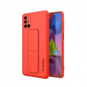 Силиконов гръб със стойка Wozinsky Kickstand - Samsung Galaxy M51 червен