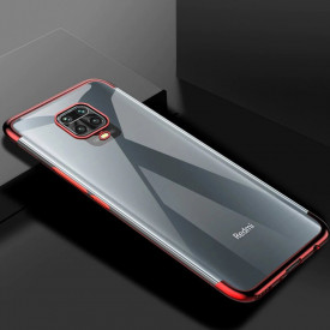 Силиконов гръб Clear Color с кант - Xiaomi Redmi 10X 4G / Xiaomi Redmi Note 9 червен