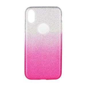 Силиконов гръб FORCELL Shining - Huawei P30 Lite прозрачен-розов