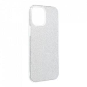 Силиконов гръб FORCELL Shining - iPhone 12 Pro Max сребърен