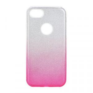 Силиконов гръб FORCELL Shining - iPhone 7 / 8 сребрист / розов