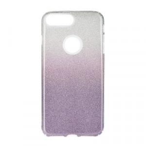 Силиконов гръб FORCELL Shining - iPhone 7 Plus / 8 Plus прозрачен-лилав