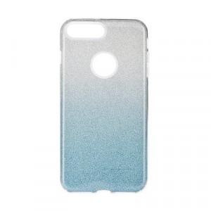 Силиконов гръб FORCELL Shining - iPhone 7 Plus / 8 Plus прозрачен-син