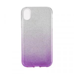 Силиконов гръб FORCELL Shining - iPhone XS Max сребрист / лилав