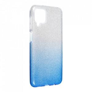 Силиконов гръб FORCELL Shining - Samsung Galaxy A12 сребрист / син