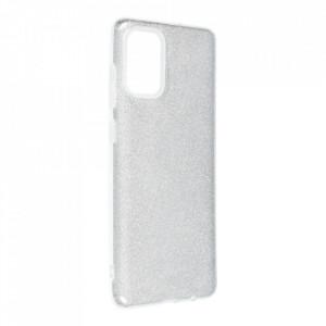 Силиконов гръб FORCELL Shining - Samsung Galaxy A72/A72 5G сребрист