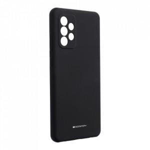 Силиконов гръб Mercury Silicone - Samsung Galaxy A72 / A72 5G черен