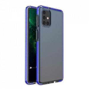 Силиконов гръб Spring с цветна рамка - Samsung Galaxy M51 тъмносин