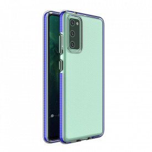 Силиконов гръб Spring с цветна рамка - Samsung Galaxy S21 тъмносин