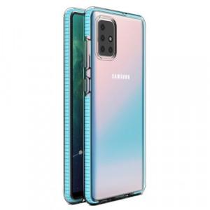 Силиконов гръб Spring с цветна рамка - Samsung Galaxy S21 Plus светлосин