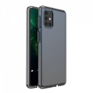 Силиконов гръб Spring с цветна рамка - Samsung Galaxy S21 Ultra черен
