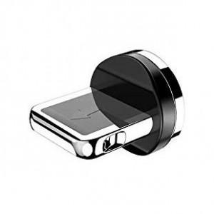 Тапичка преходник за магнитен USB Lightning кабел сребърен