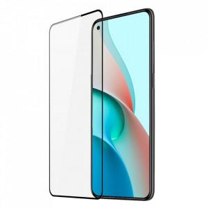 10D закален стъклен протектор DUX DUCIS с пълно покритие и рамка - Xiaomi Redmi Note 9T 5G черен (съвместим с гръб)