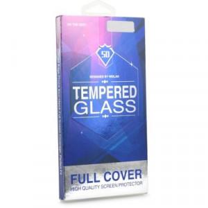 5D Full Glue закален стъклен протектор - Samsung Galaxy S8 Plus (съвместим с гръб) черен