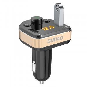 MP3 синtooth Трансмитер Dudao FM за зарядно за кола 2x USB 3.4A черен (R2Pro черен)