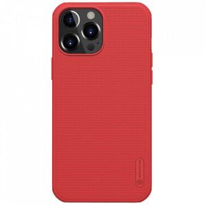 Гръб Nillkin Super Frosted Shield + стойка - iPhone 13 Pro Max червен