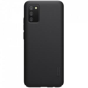 Гръб Nillkin Super Frosted Shield + стойка - Samsung Galaxy A02s черен
